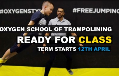 banner_boy learns from instructor at the Oxygen School of Trampolining