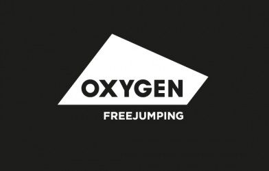 oxygen Freejumping logo in black