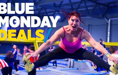 Trampolining on Blue Monday week up to 30% off