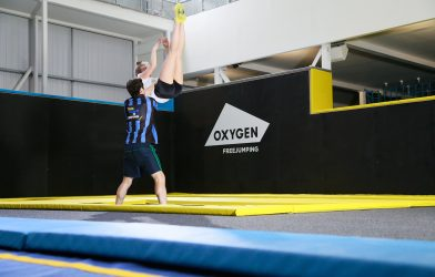 Trampoline classes at trampoline park