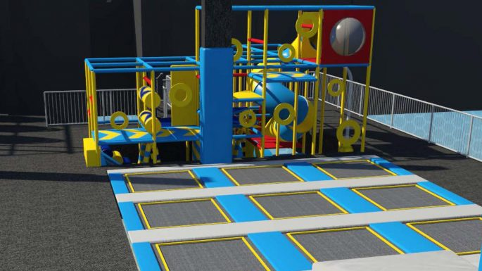 Soft play toddler area in Croydon trampoline park
